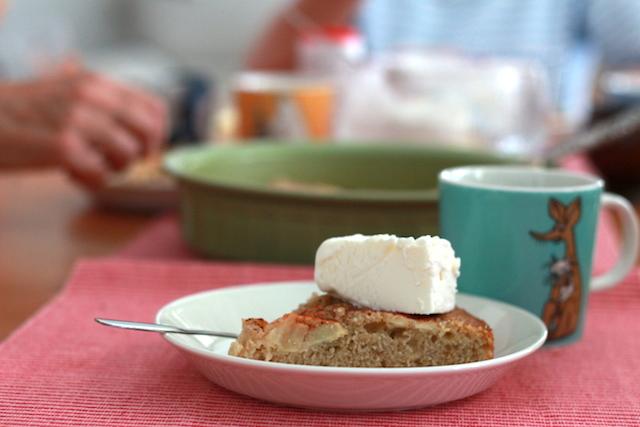 äppelkaka glass