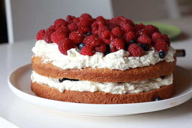 gluten- och äggfri tårta