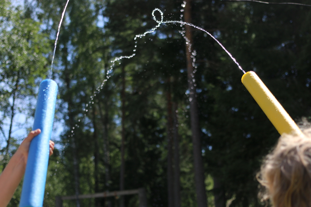 sommar vattensprutor