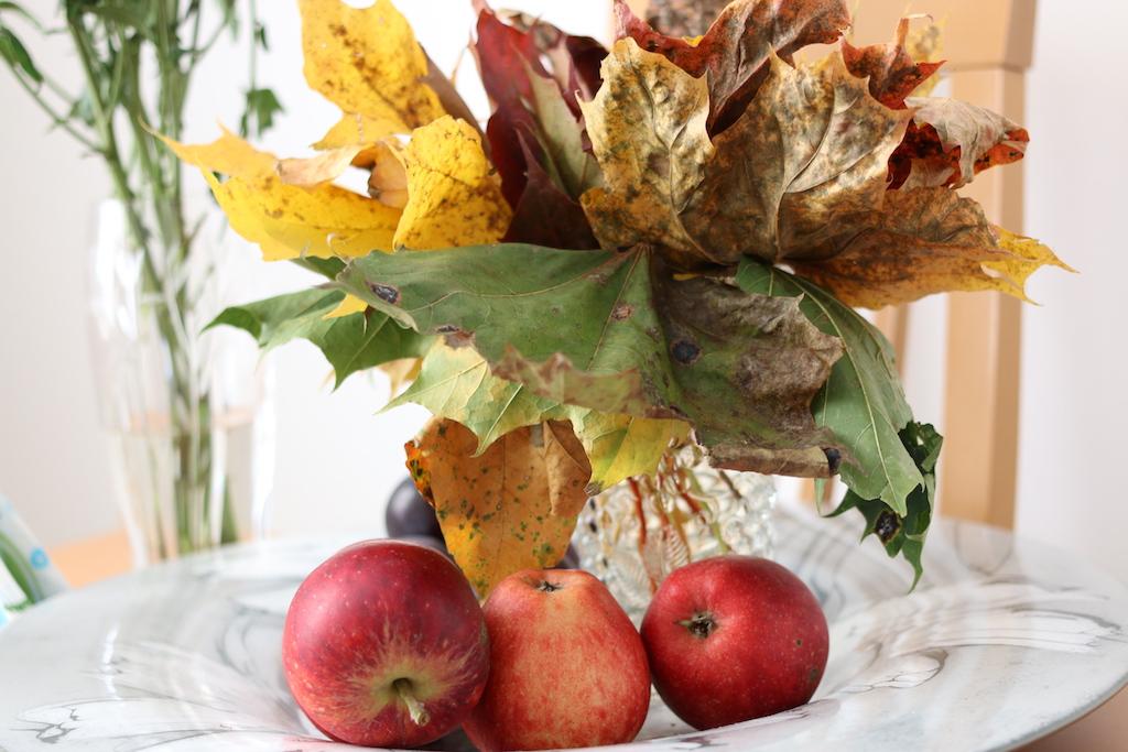 höst lönnlöv äpplen