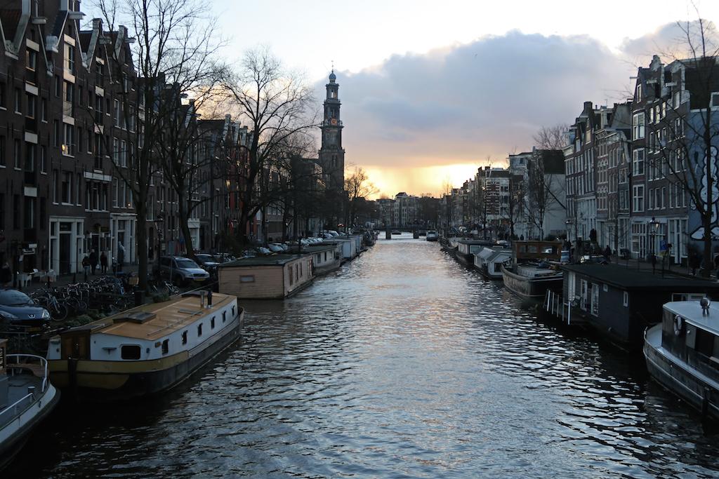 solnedgång kanal