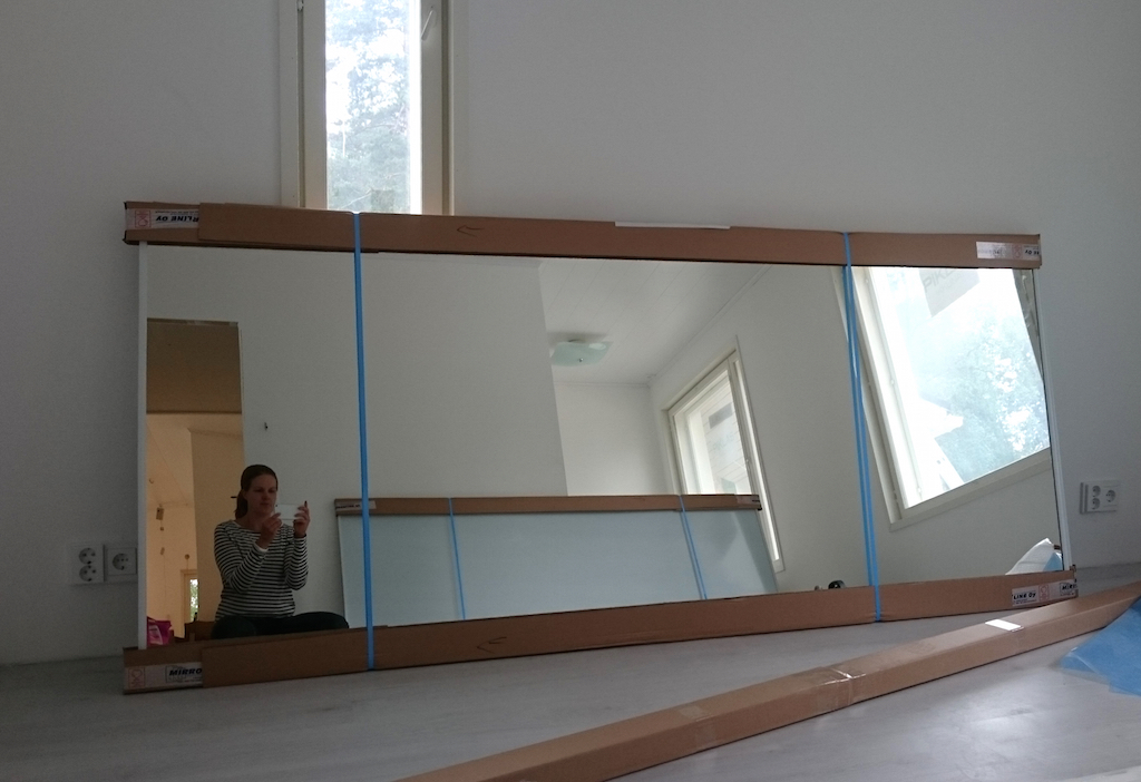 spegelskjutdorr