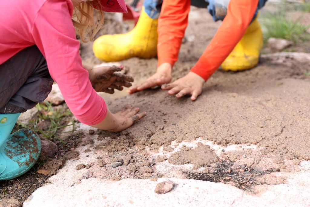 spackla med sand